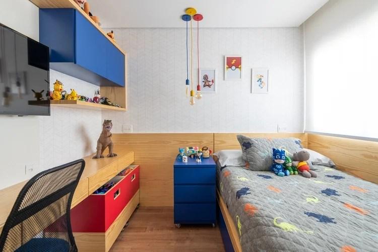 Decoração colorida para ambientes pequenos.