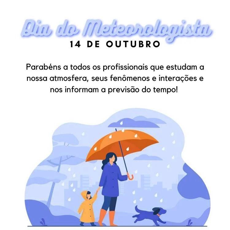 Foto com frase para o Dia do Meteorologista.