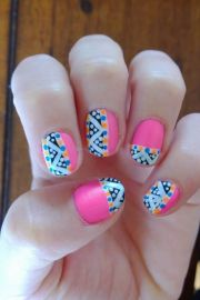 cute winter nail design and ideas