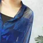 Blue Transparent Bluse   Yuqi – (G)I-DLE