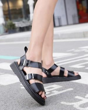 Suga Black Summer Sandals (9)