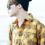 Jimin Plaid Shirt Yellow/Green | BTS