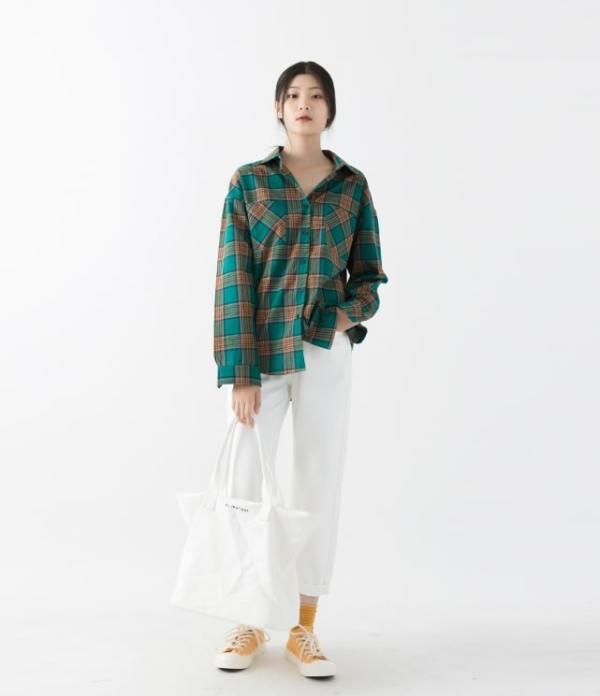 Jimin Plaid Shirt Yellow/Green | BTS