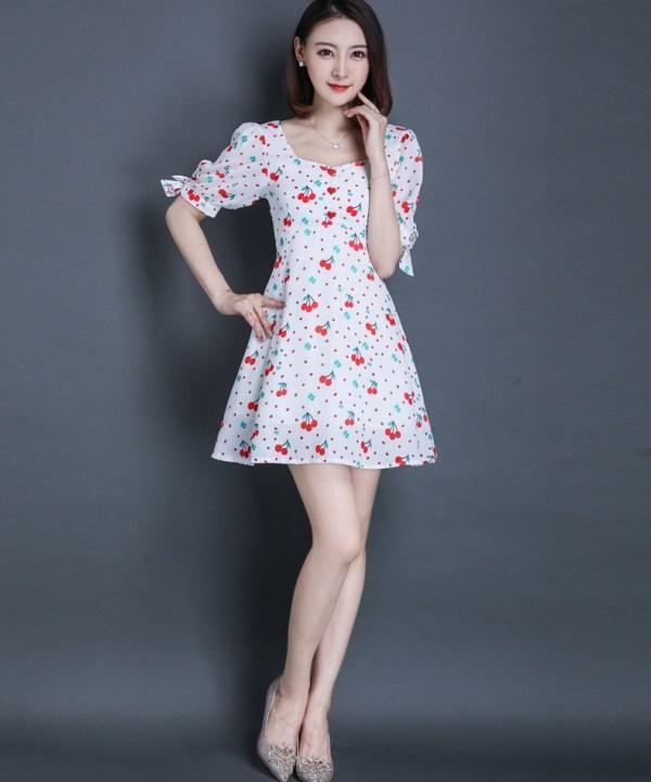 White Cheery Dress | Nayoung – Gugudan