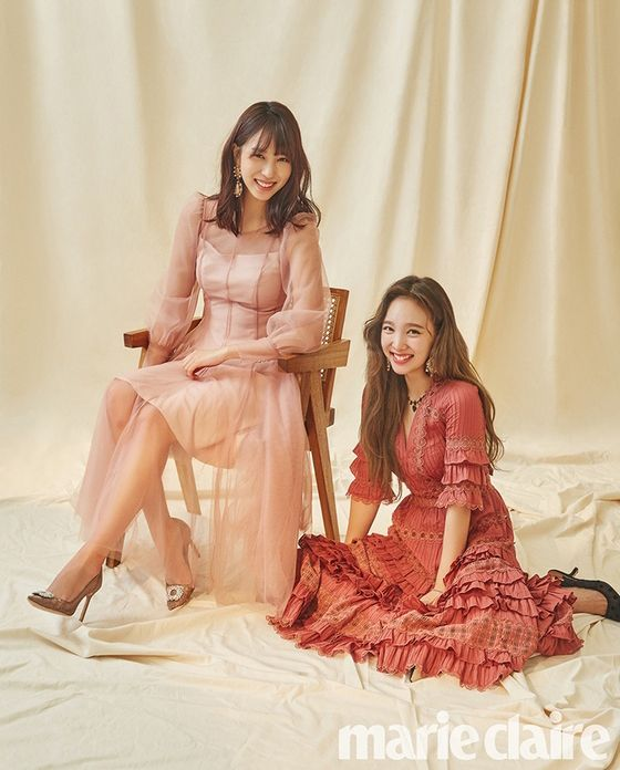 Red V-neck Long Dress | Nayeon – Twice