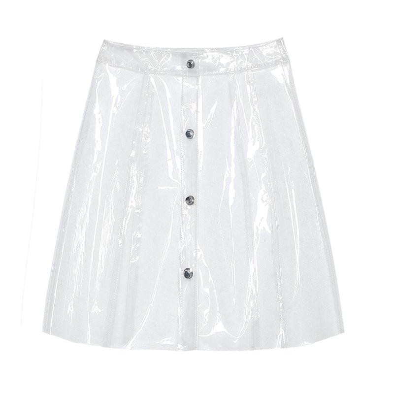 GIDLE Soyeons transparent plastic Skirt in the HANN MV