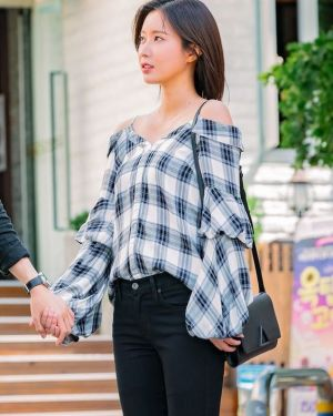 Blouse with Balloon Sleeves | Kang Mi Rae – My ID is Gangnam Beauty