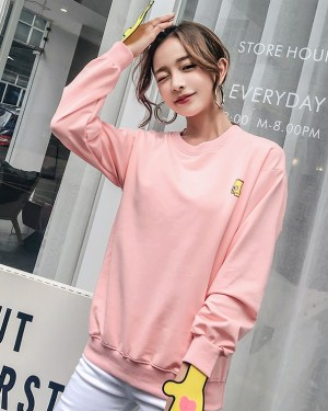 Kim Bok Joo Pink Bart Simpsons Sweater (2)