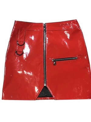 SNSD Yoona Red Leather Skirt in 'Lil Touch'