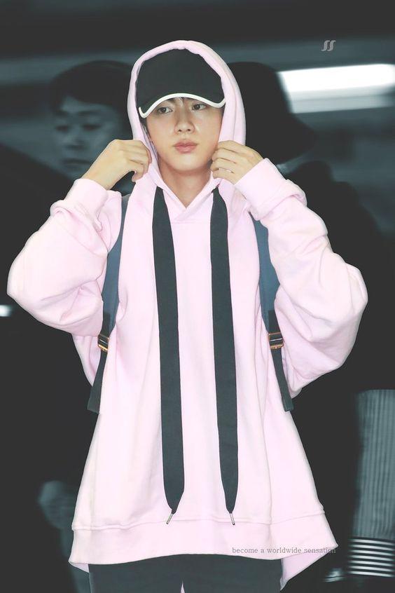 Pink Hoodie | Jin – BTS