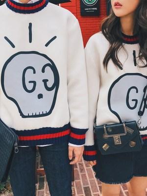 Jimin BTS skull sweater gucci
