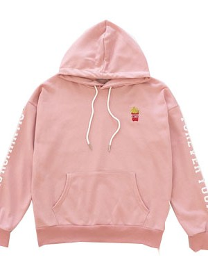 Pink Fries Hoodie – Jin BTS Fashion