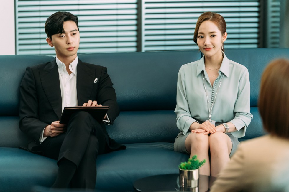 Secretary Kim Mi Soo blue blouse