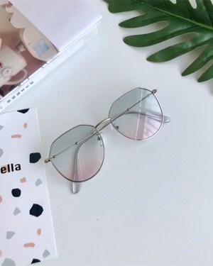 Pink Transparent Glasses Taehyung BTS