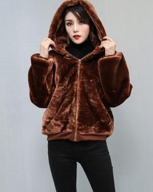 Jimin brown fur Jacket