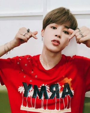 jimin Red army shirt
