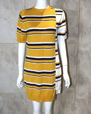 blackpink-jennie-yellow-striped-dress2