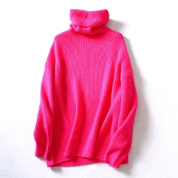 Pink Turtleneck Sweater | Joy – Red Velvet
