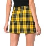 Black Yellow Checkered Skirt | Jeongyeon – Twice