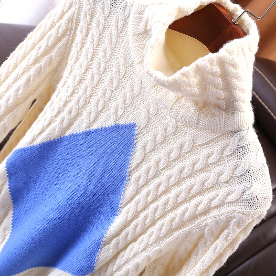Knitted White Turtleneck Pullover | Nayeon Twice | K