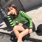 Green Striped Sweater | Momo – Twice