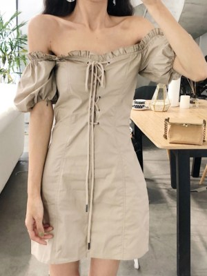Jennie Cute Beige Dress (4)