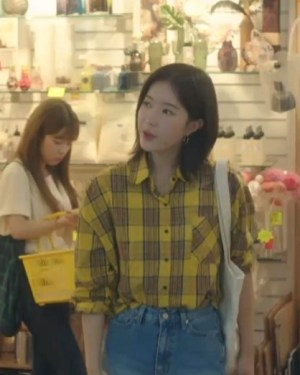 Yellow Checkered Shirt With One Bag | Kang Mi Rae – My ID is Gangnam Beauty