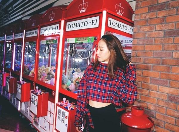 Red Plaid Sweatshirt | Lisa – BlackPink