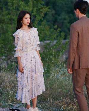 White Blue Flower Dress | Jung Hee Joo – Memories of the Alhambra
