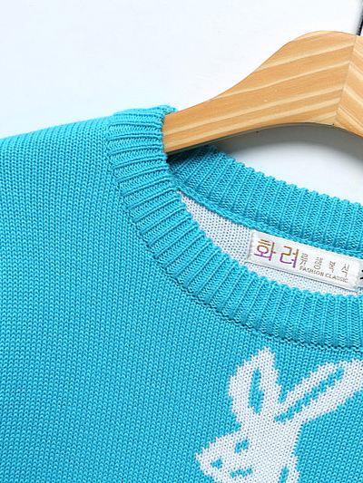 Baby-Blue Rabbit Sweater | Taehyung – BTS
