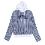 Striped 'Covered' Shirt with Hood | Jungkook – BTS