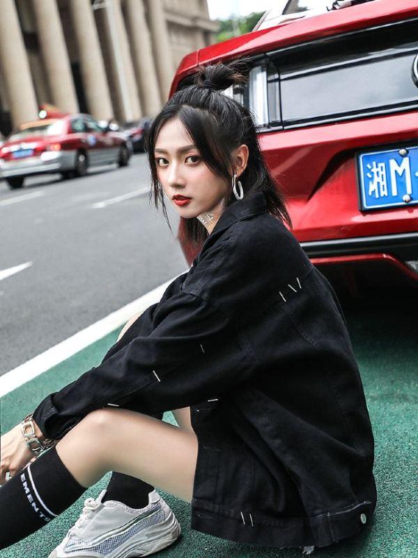 Black Denim Jacket   Lay – EXO