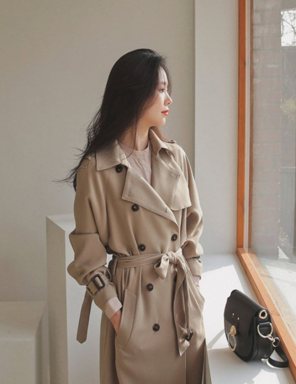 Beige Airport Fashion Coat   Lisa – BlackPink