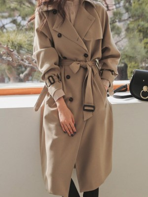Lisa Beige Airport Fashion Coat (11)
