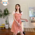 Cute Red Checkered Dress | Lisa – BlackPink