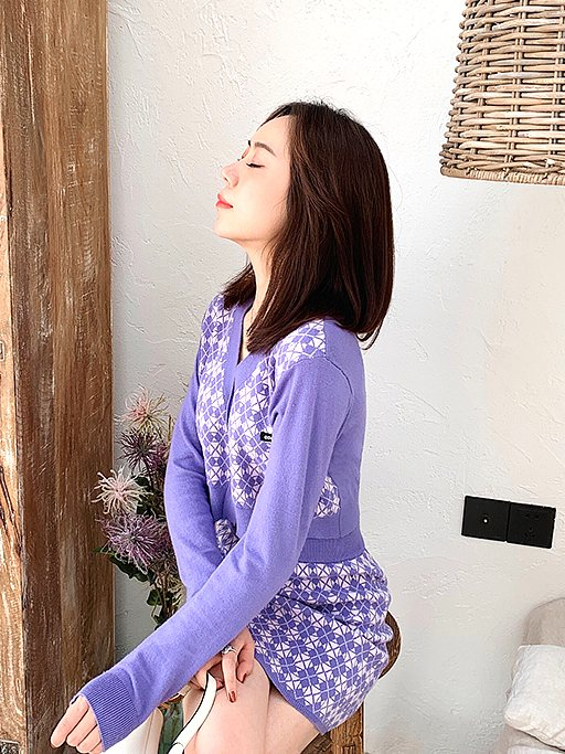 Lilac Cardigan | Jennie – BlackPink