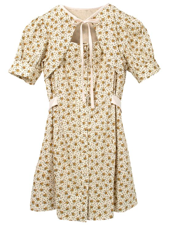 Beige Flower Dress | Jisoo – BlackPink