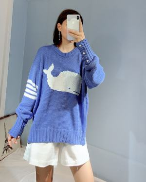 BTS Jin – Blue Whale sweater (9)
