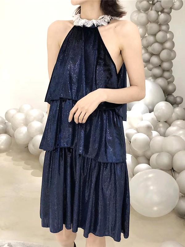 Chic Blue Dress | Jennie – BlackPink