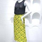 Black See-Through Vest & Yellow Floral Skirt Set | Hyuna
