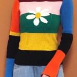 Rainbow Daisy Sweater | Hyuna