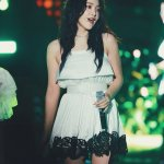 White Dress With Black Lace Trim | Yeri – Red Velvet
