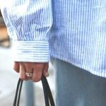 Blue Shoulder Free Blouse | Sana – Twice
