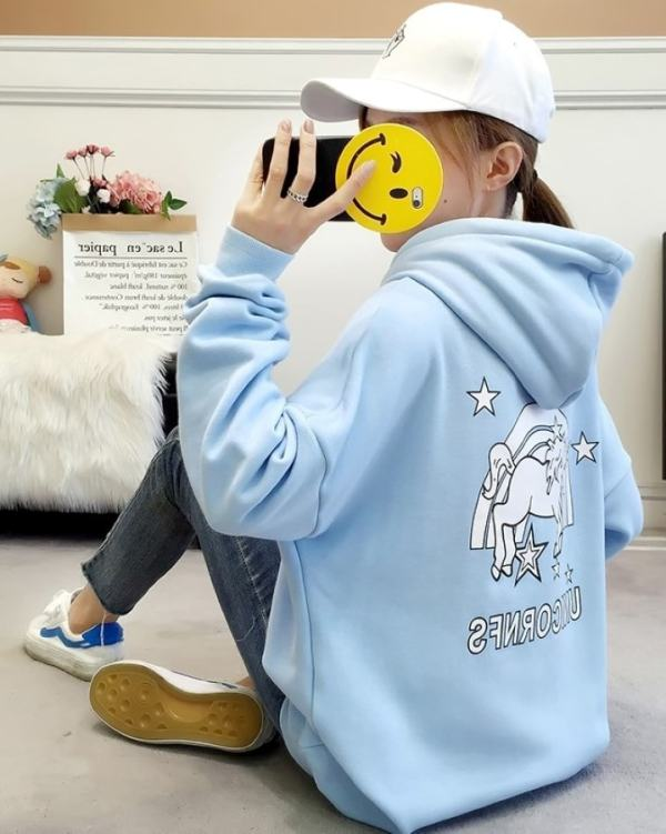 Blue Unicorn Rainbow Hoodie | Jennie – BlackPink