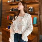Small Hearts Ruffled Blouse | Dahyun – Twice