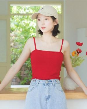 Hyuna Red Camisole (6)