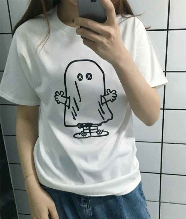 Cute Ghost Cartoon T-Shirt | J-Hope – BTS