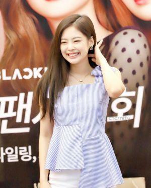 Blue Striped Bow Tie Top | Jennie – BlackPink