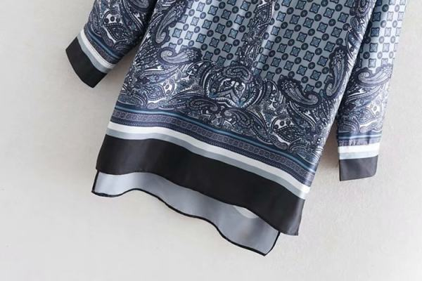 Loose Long Sleeve Assymetric Print Top | Jimin – BTS
