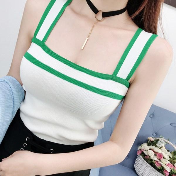 Wide Strap Square Collar Top   Lisa – BlackPink